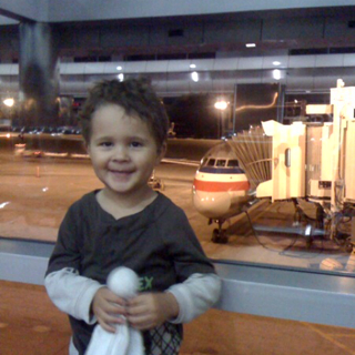 Little Mans First Airplane Ride